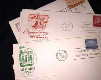 Landmarks Post Office First Day Envelope Lot with Stamps