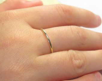 Thin ring band, gold filled ring, gold stacking rings, simple ring, plain ring