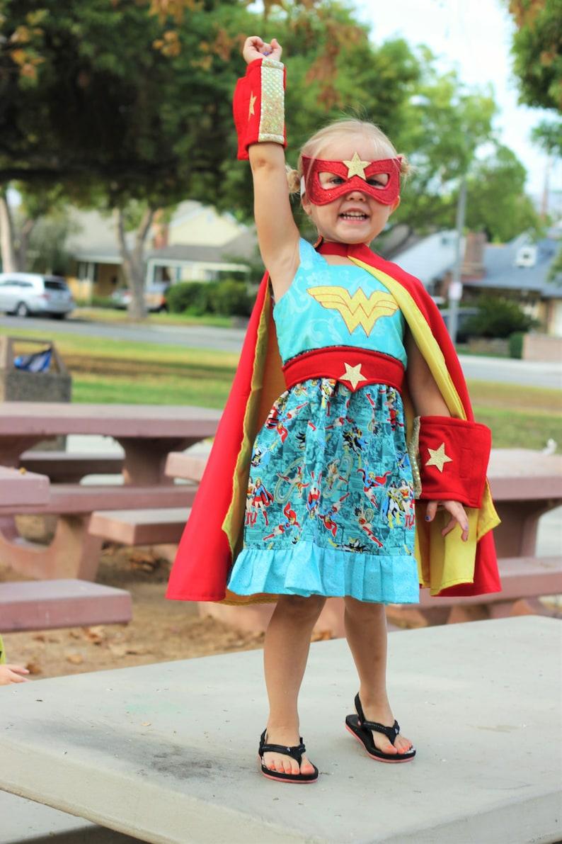 Wonder Woman Halloween Costume Kids.Wonder Woman Dress Wonder Woman Costume Superhero Party Halloween Costume Kids Halloween Costurm Halloween Cape Superman