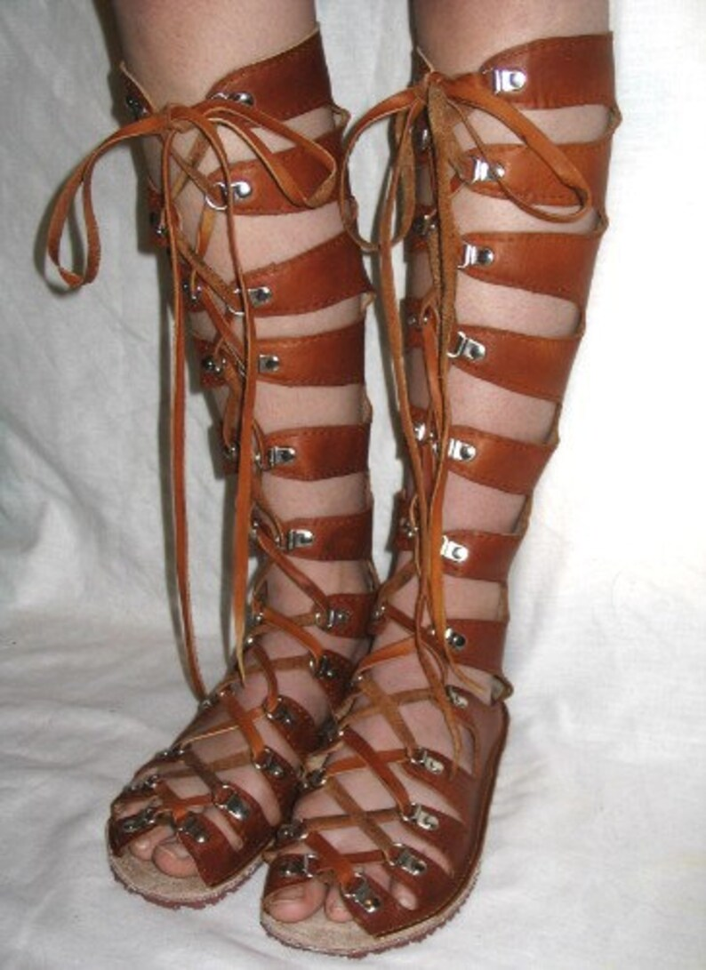 84dae1a5fad Leather Gladiator Sandals Medieval Renaissance Shoes Handmade