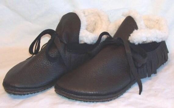 Mocassins Mocassins Mocassins avec amovible en polaire doublure chaussures en cuir sur mesure fait à la main par Debbie cuir à franges en cuir | Durable  6d4577