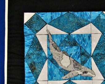 Whale of a Storm - Quilt Block Menagerie Pattern