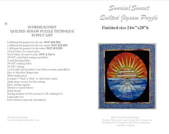Sunrise/Sunset - Quilted Jigsaw Puzzle