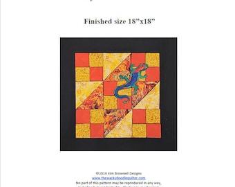 Lizard's Ladder - Quilt Block Menagerie Pattern