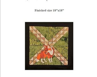 Fox Through the Woods - Quilt Block Menagerie Pattern