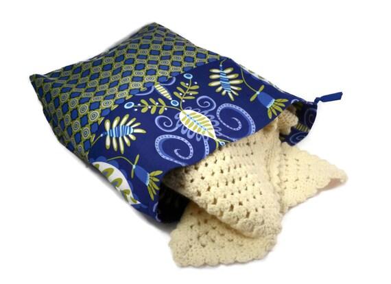 Tricotin grand sac projet sac cadeau pour elle pour tricoter projet sac sac tricot bleu sac tricot sac tricot grand sac au Crochet