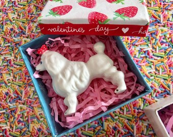 Doll House Accessories .. Vintage Ceramic Poodle Or Tiny Deer Toy..Sweet Gifts.. kawaii.. Handmade..