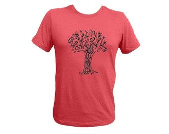 Unisex Tree Raspberry Adult Tshirt PolyCotton Tee Small Medium Large