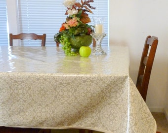 Laminated Tablecloth with Bias - choose your size and your print  - laminated cotton BPA & PVC Free