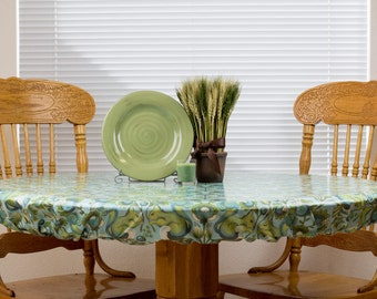 Fitted Round or Square Tablecloth - Wipeable & Washable, BPA Free Laminated Cotton - Choose Your Print