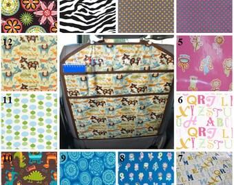 Back Seat Kick Mat  - Baby's Indulgence BPA & PVC free, laminated cotton
