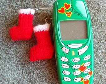 Instant download - Tiny Christmas Boots - PDF (knit)