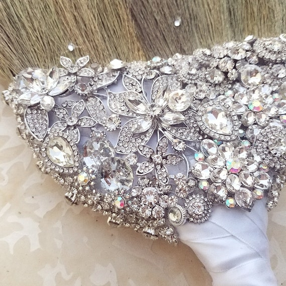 Bling and Brooch Wedding Jumping Broom SALE All Bling Everything