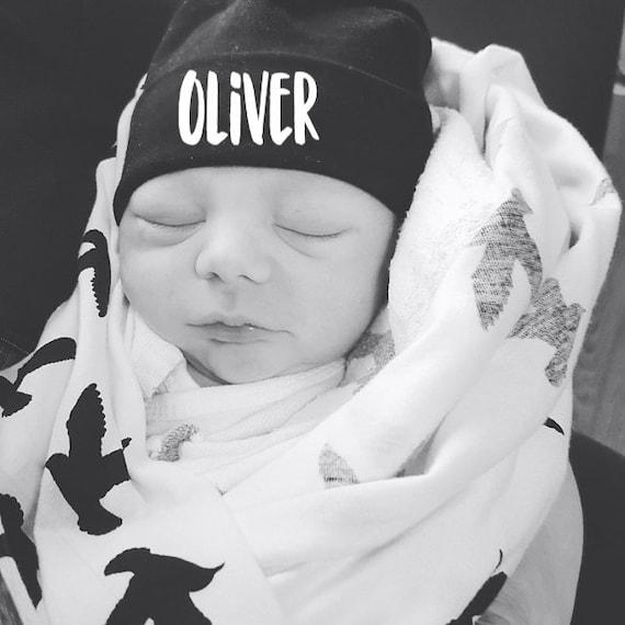 Baby Boy Personalized Newborn Hat Hospital Hat Baby Boy  9f2a37acc40e