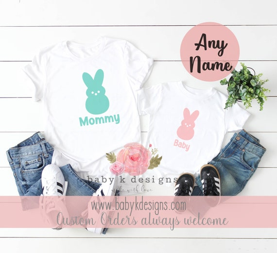 First Easter Baby Gift For Girls Mummy and Daddy/'s Little Bunny Baby Bodysuit