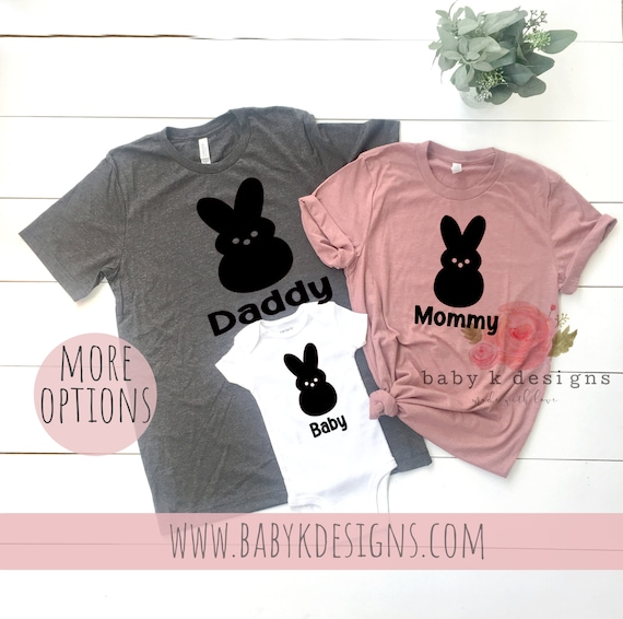 89fbd1acdb Family Shirts Mommy Daddy Baby Bunny Easter Shirt Mommy and   Etsy