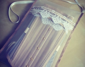 Corset bag- storage for your custom corset, made to match! Perfect gift for a corset lover.