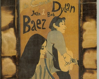 MUSIC-Bob Dylan-Joan Baez-Concert Poster-Heavy Stock Photo Paper 11x17-PosterGiclee Print-WW99
