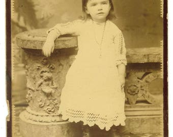 Vintage Cabinet Card of young girl by Masterson, Port Jervis