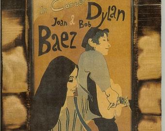 Joan Baez & Bob Dylan in Concert 1965 - Wooden Plaque