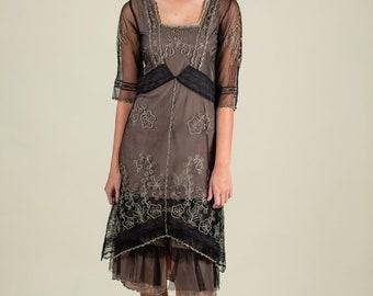 c80a39c52a7a 90s Vintage 20s Style Flapper Dress SIZE Small