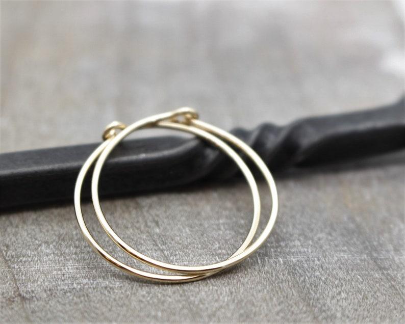 Gift for her Gold Hoop Earrings Gold filled Hoop Earrings 1 inch hammered hoops 14K gold filled