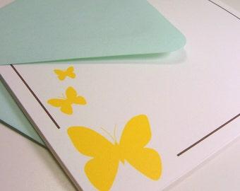 Folded Note Card Set - Butterfly