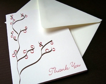 Thank You Cards - Brown Bark