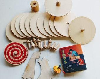 Paint n Make Spinning Top Kit to make 12 tops
