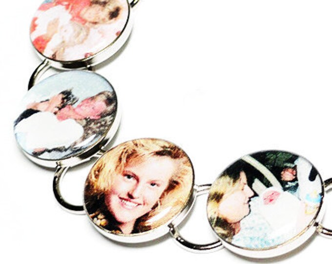 Custom Photo Bracelet, Memorial Jewelry, Personalized Graduation Gift, Resin Bracelet, Handmade Bracelet, Mothers Day