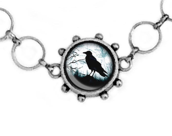 Crow Raven Necklace, Handmade Necklace, Gothic Jewelry, Bird Lover, Crow Necklace, Birds, Black Necklace, Gifts for her, Goth