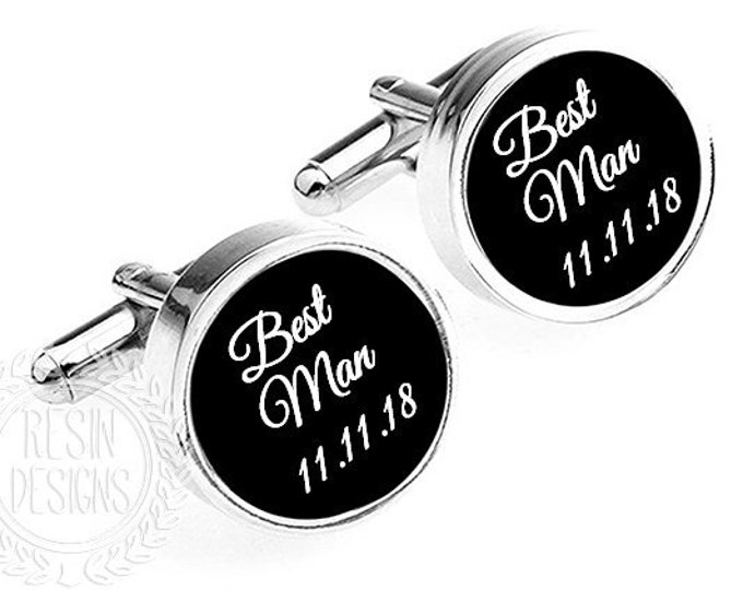 Groomsmen Gifts, Wedding Party Cufflinks, Custom Groomsman Gift, Personalized Wedding Cuff Links, Cufflinks, Father of the Groom, Best Man