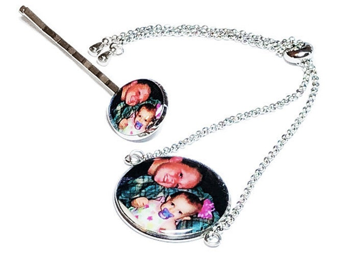 Mother's Day Gift, Custom Photo Bracelet, Personalized Gift for Mom, Gift for Her, Stainless Steel Bracelet, Childrens Art, Picture Gift