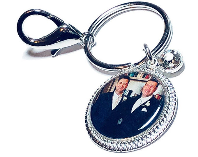 Custom Photo Key Ring or Purse Charm, Picture Key Fob, Personalized Wedding Charm, Custom Photo Key Chain, Gift for the Bride