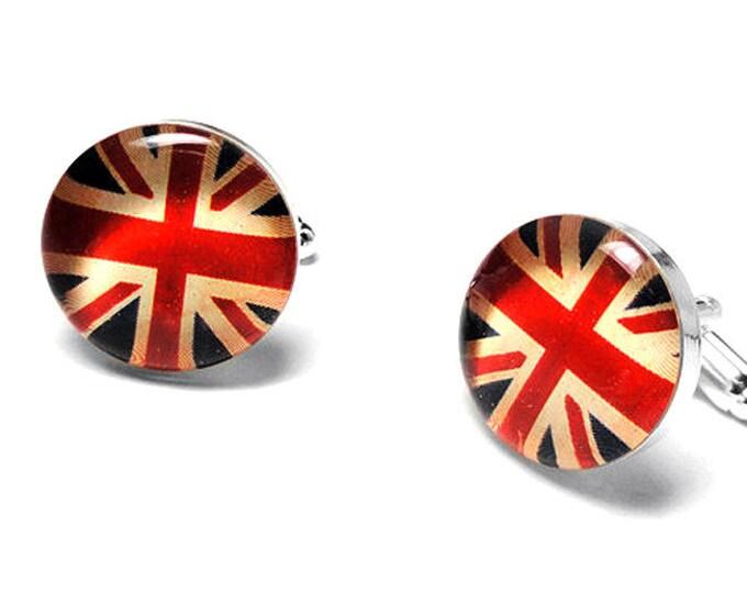 English Flag Cufflinks, Wedding Gift, American Flag, French, Groomsmen Cufflinks, Grooms Gift, Australia, German, Italian, Chinese, Handmade