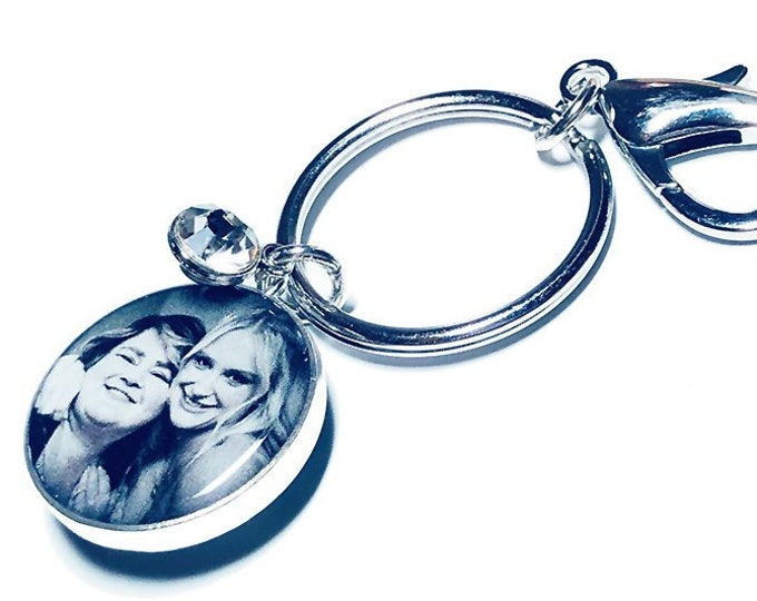 Personalized Photo Key Ring, Custom Picture Gift for Her, Keychain, Mothers Day Gift, Personalized Picture Key Ring, Picture Key Fob
