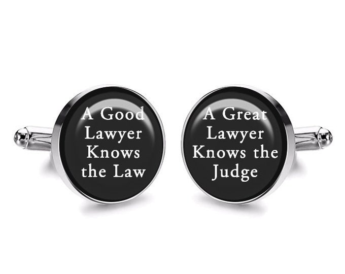 Trust Me I'm a Lawyer Funny Cufflinks, Lawyers Gift, Anniversary Gift, Gift for Him, Boss Gift, Wedding Gift, Handmade Mens Accessories