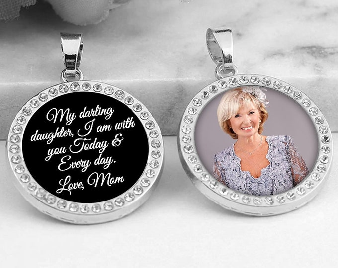 Crystal Wedding Shoe Photo Charms, Gift for the Bride, Something Blue, Personalized Crystal Bridal Charms, Custom Memorial Picture Charms