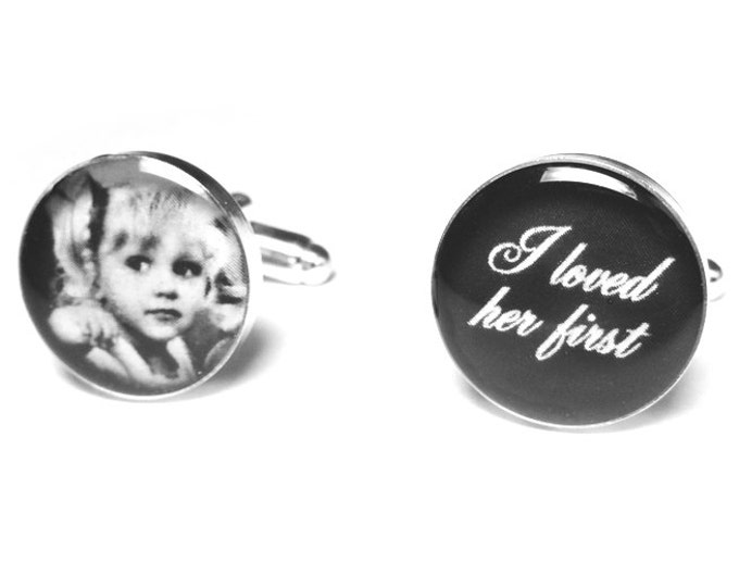 Father of the Bride Wedding Cufflinks, Photo Cufflinks, Gift for Dad, Wedding, Personalized Cufflinks, Wedding Gift, Brides Dad Cufflinks