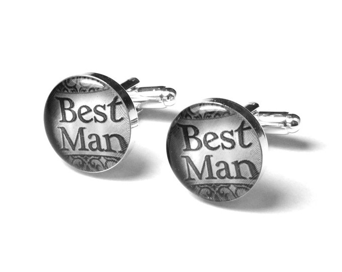Groomsmen Wedding Gifts, Fiance Gift, Wedding Party Cufflinks, Father of the Bride, Best Man, Ring Bearer, Cufflinks, Wedding Gift for Him