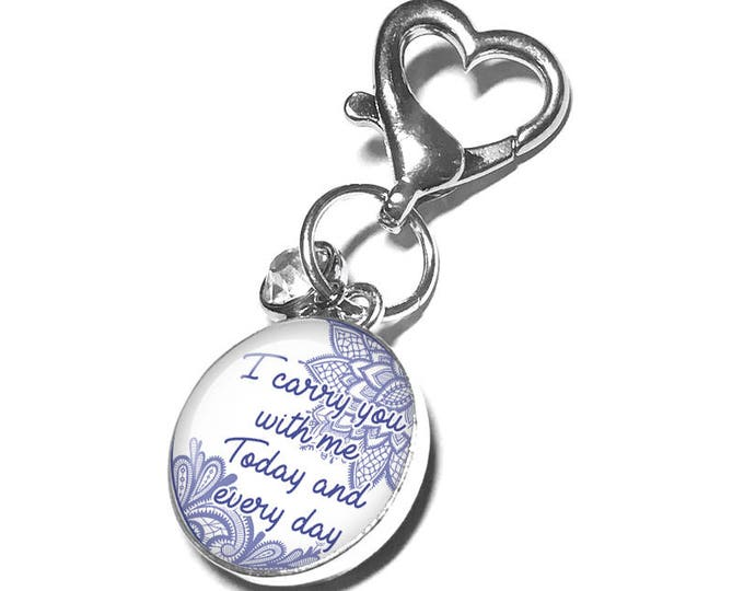 Something Blue Personalized Wedding Bouquet Memorial Photo Charm, Custom Picture Charm, Gift for Bride, Bouquet Brooch, Bridal Bouquet Pin