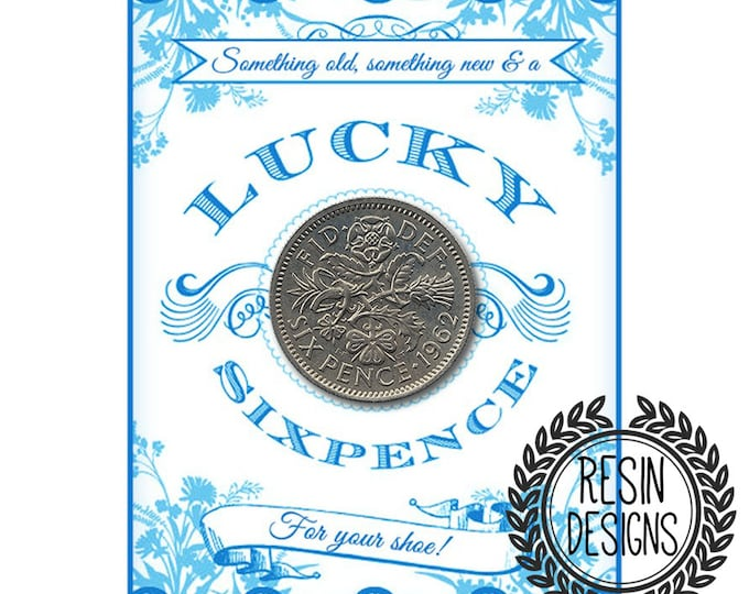Sixpence Coin for your Wedding - Something old something new Something Blue, Wedding Accessory, Bridal Gift For the Bride, Wedding Tradition