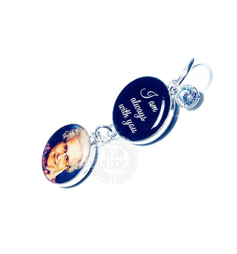 Something Blue Mariée Bouquet Charme personnalisé Loving Memory Cadeau Souvenir