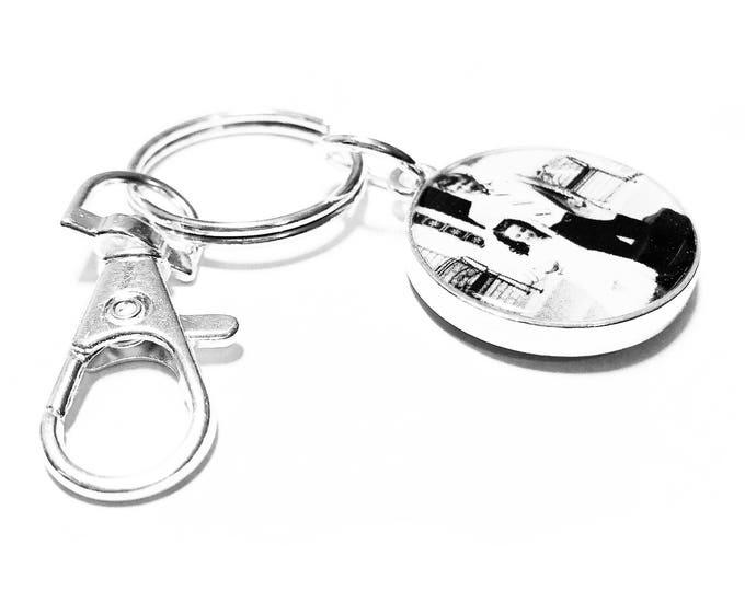 Personalized Key Ring, Custom Photo Gift, Custom Keychain, Personalized Gift, Picture Key Ring, Key Fob, Double Sided Charm, Custom Key Ring