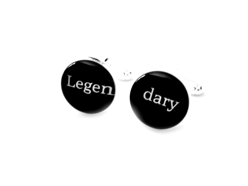 Legendary Cufflinks Grooms Cufflinks Wedding Gift Mens Cufflinks