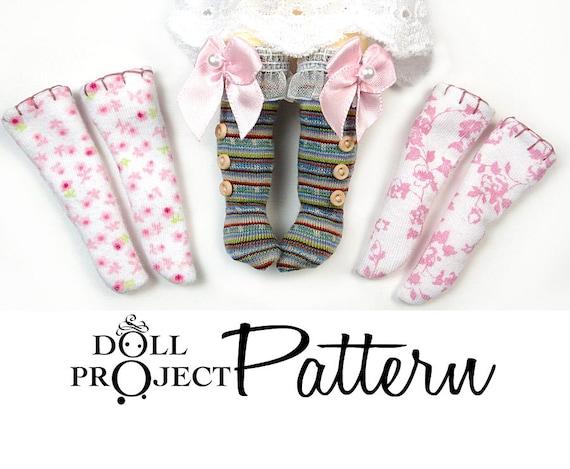 NEW Doll Socks Patterns PDF Tutorial : How to sew socks for | Etsy
