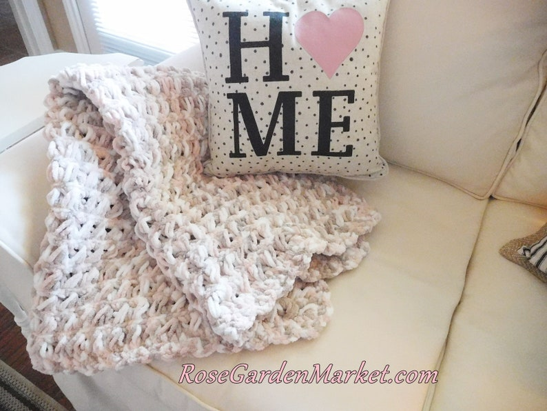 Chubby Loves Baby Blanket or Adult Lap Throw Hand Crocheted image 0