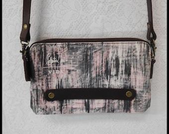 Weaved Thread Statement Clutch, Cross Body Clutch Wallet, Iphone Holder, 100% Cotton, Designer Original, ECS