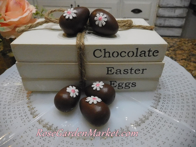 Book Stack Bundle Chocolate Easter Eggs Farmhouse with Set image 0