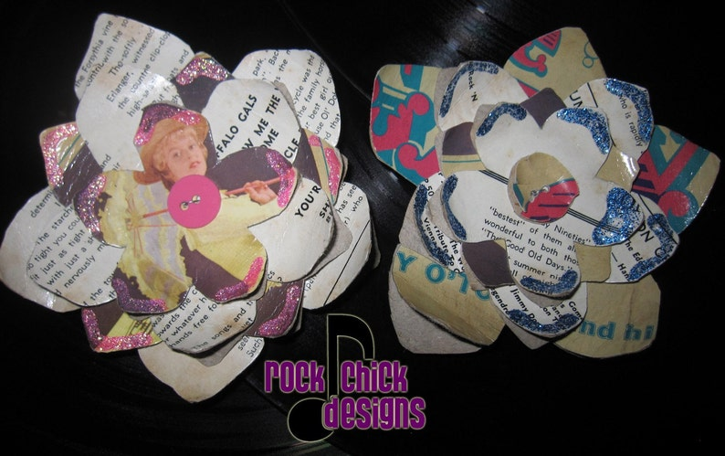 Hair Flower Record Jacket  Gay 90s 4.5 inches pin-up image 0